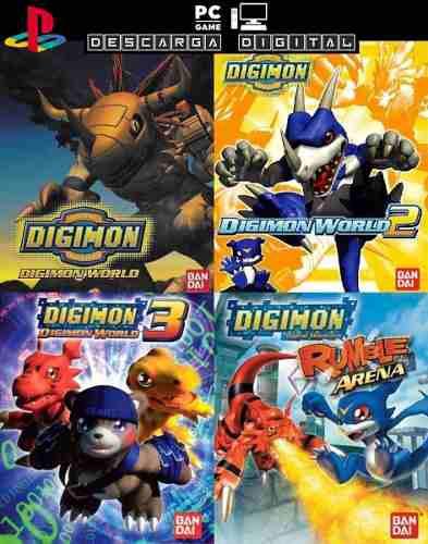 Digimon world 1 + 2 + 3 + rumble arena juegos pc digital ps1