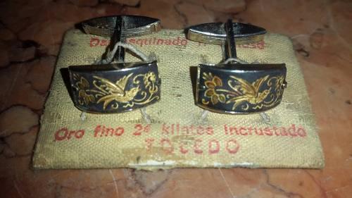 Gemelos Antiguos Con Incrustaciones De Oro 24