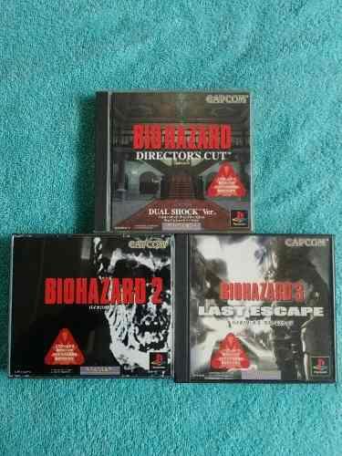 Juegos ps1 resident evil biohazard 1, 2 y 3 originales