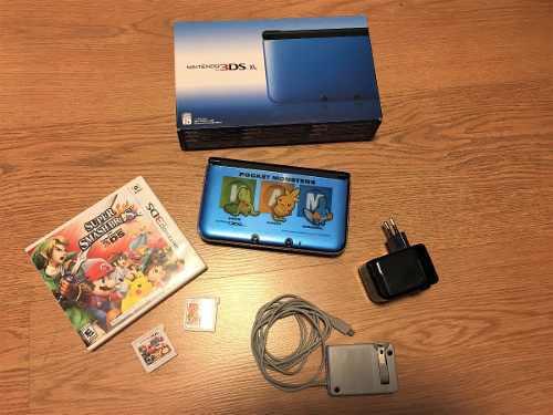 Nintendo 3ds xl + carcasa + 2 juegos + cargador