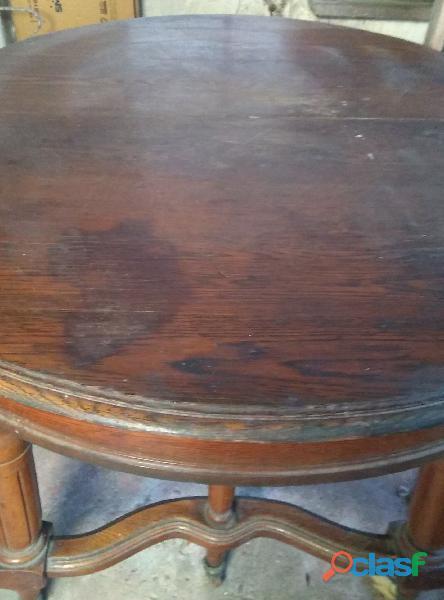 Mesa antigua de madera (roble) extensible 1