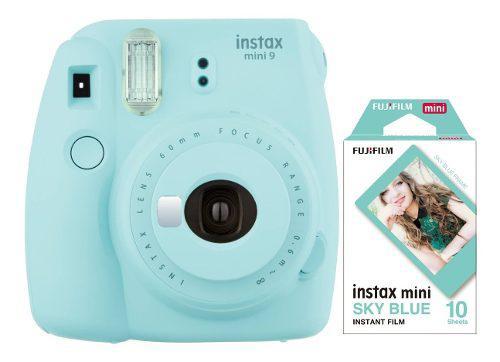 Camara Fujifilm Instax Mini 9 Celeste 10 Fotos Cuotas