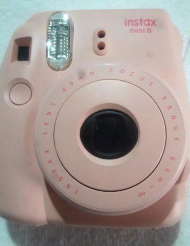 Cámara De Fotos Fujifilm Instax Mini 8 Color Rosa Con Funda