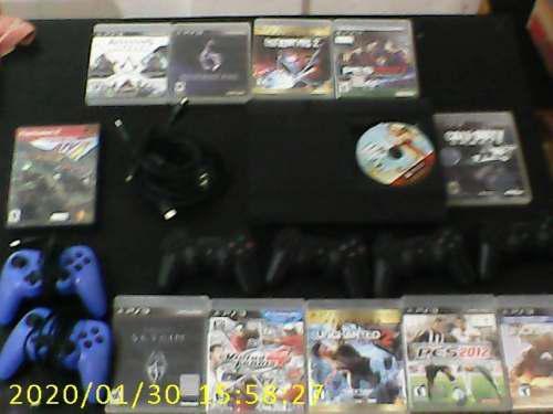 Play station 3 con joystick juegos y accesorios