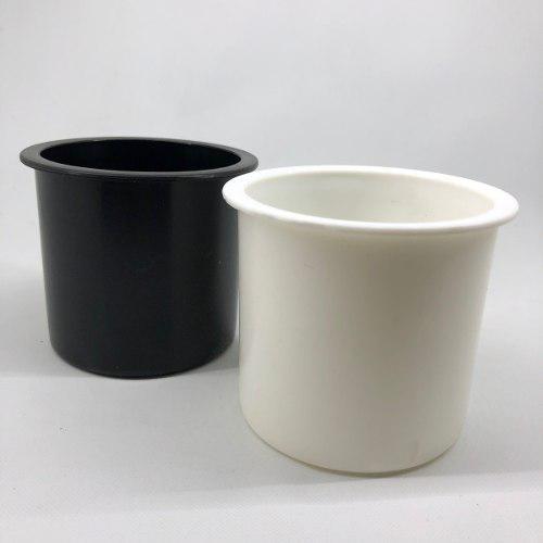 Posa vaso de embutir plástico blanco o negro - náutica