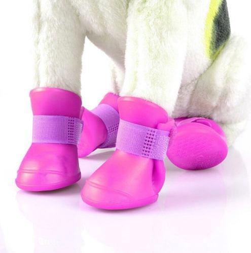 Botitas perro x4 (l) botas de lluvia silicona zapato