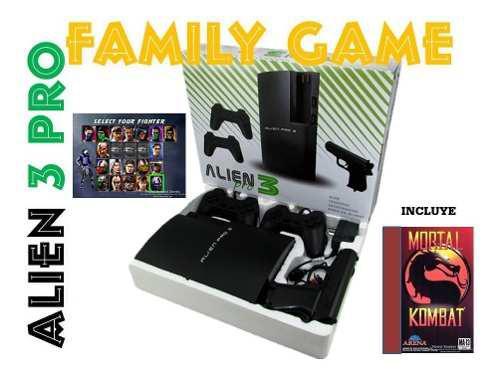 Consola de video juego family alien 3 incluye super mario
