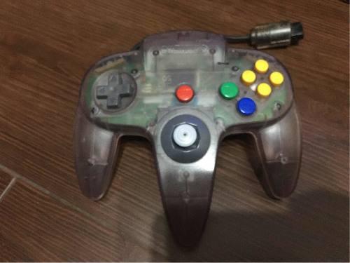 Joystick Control Nintendo 64 Atomic Purple Transparente N64
