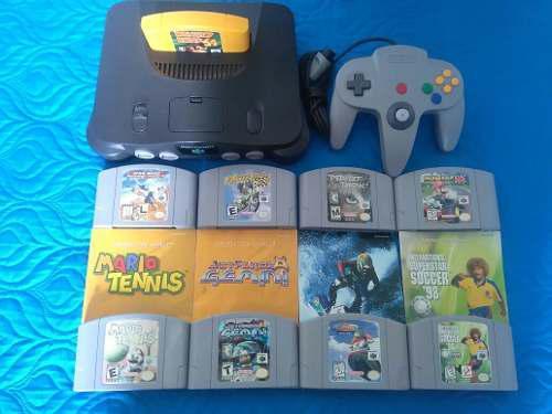 Nintendo 64 + Juegos + Manuales.