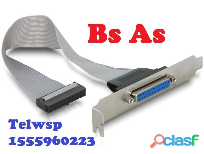 Bracket Puerto Serial DB9 RS232 Simple y Doble CABA 1