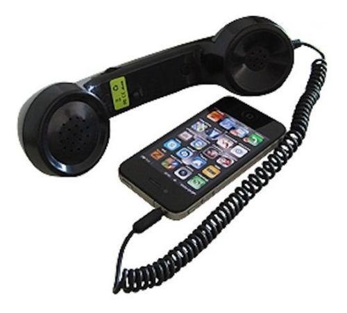 2 auricular teléfono vintage accesorio celular negro blanco