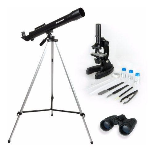 Juego didactico kit telescopio microscopio binocular