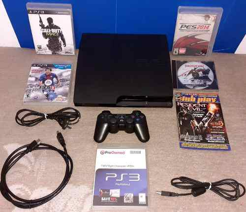 Ps3 slim 320 gb - 1 joystick - 6 juegos - 1 revista - hdmi
