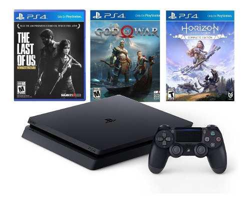 Ps4 1tb Bundle 3 Juegos Horizon, God Of War, The Last Of Us