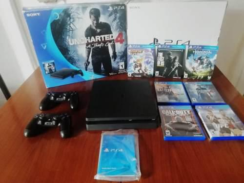 Ps4 playstation slim navidad completa con juegos fortnite