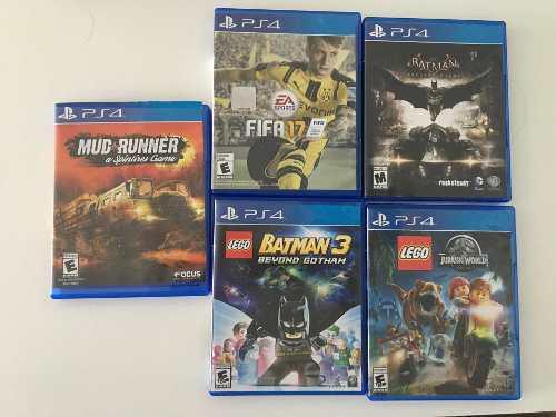 Set de 5 juegos de play station 4 ps4