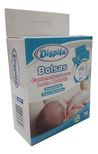 Bolsas contenedoras para leche materna 250 ml dispita x 30 u