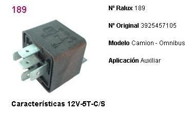 Relay de accesorios 12v 5 terminales m. benz camion c/s
