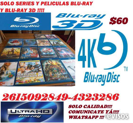 Venta peliculas blu-ray y blu-ray 3d y series!!! en mendoza