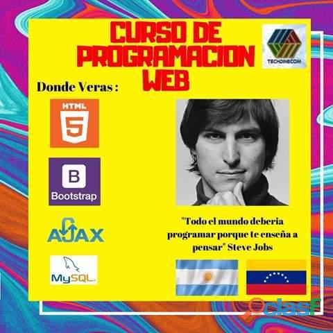 Curso de programación web 100% online