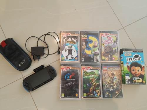 Playstation Portátil - Psp Con Cámara De Fotos Y 7 Juegos