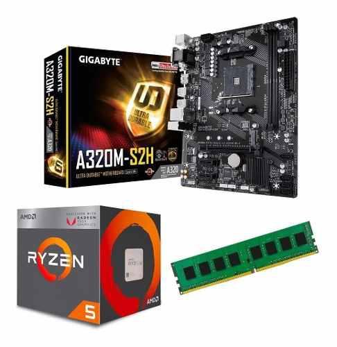 C122 combo actualizacion amd ryzen 5 2400g a320 8gb xellers