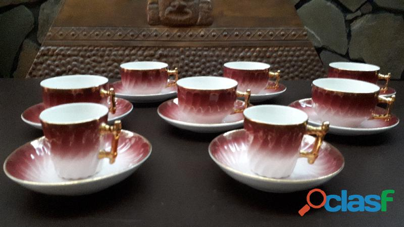 Juego de te antiguo holandés (6 tasas de té y 2 de café)