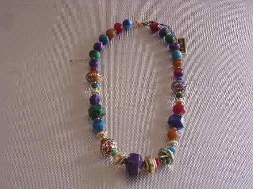 Antiguo collar retro vintage acrilico multicolor cºmgd035