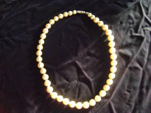 Biyuteria antigua collar gargantilla perlas