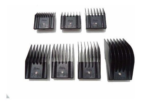 Set de 7 peines de alzada guia original oster para peladora