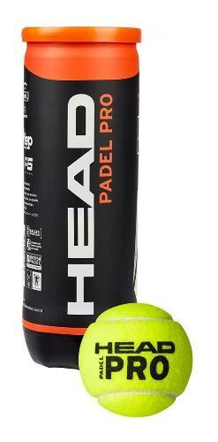 Tubo pelotas padel head x 3 pelotitas paddle all court pro