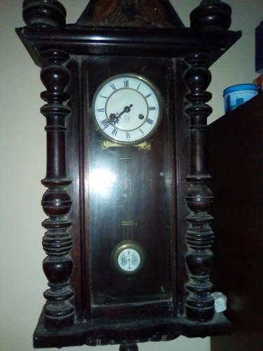 Antiguo reloj de pared a pendulo gustav becker año 1908!