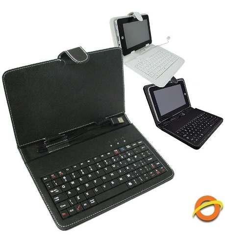 Estuche con teclado funda p/ tablet pc 7 soporte usb