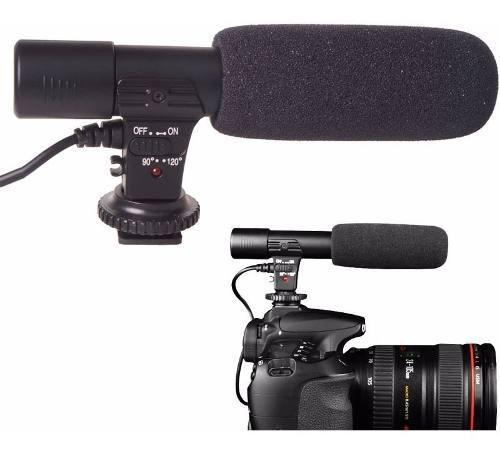 Microfono estereo mic-01 p/ dslr nikon canon miniplug 3.5mm