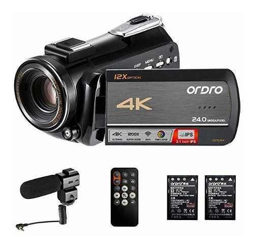 Cámara Camcorder 4k Ordro Hdr-ac5 Uhd Video Camara 12x Opt