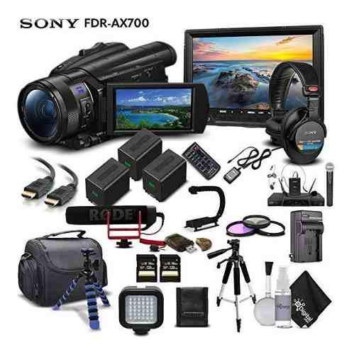 Cámara Sony Handycam Fdr-ax700 4k Hd Video Camara Camco