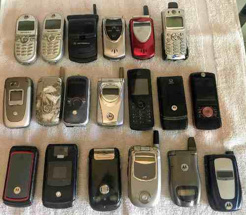 Lote celulares motorola tdma/cdma/gsm p/ repuestos/coleccion
