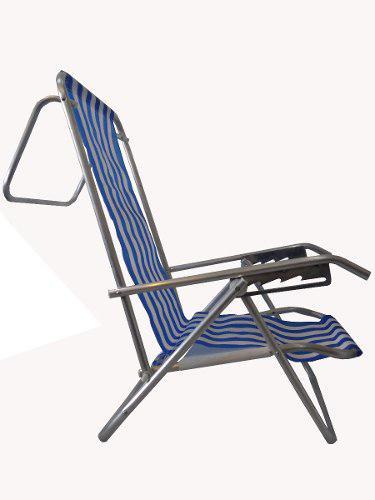 Reposera silla aluminio 5 posiciones super liviana