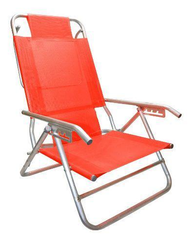 Reposera silla aluminio descansar 5 pos. coversol