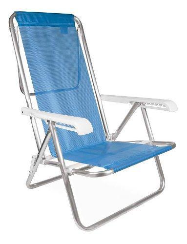 Silla reposera aluminio sannet 8 posiciones mor azul