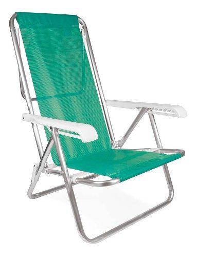 Silla reposera aluminio sannet 8 posiciones mor verde