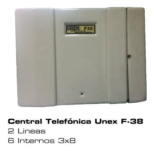 Central telefónica unex f-38 2 lineas 6 int 3x8 envio