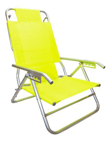 Reposera silla aluminio descansar 5 pos. coversol cuotas