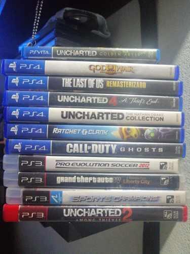 Lote de juegos, pack de juegos ps3 ps4 y vita, liquido!!