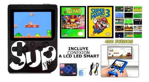 Consola de videojuegos family portatil 400 en 1 recargable
