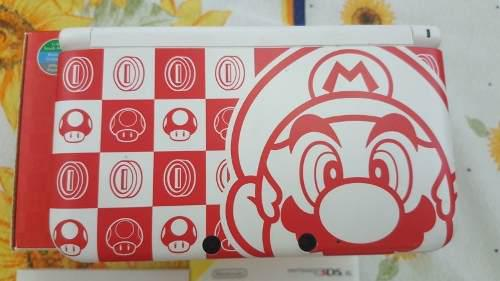 Nintendo 3ds xl edición especial mario white