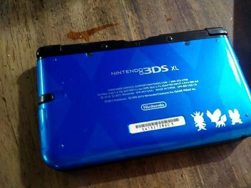 Nintendo 3ds xl pokémon blue, sd32 gb, flash, 38 + 2 juegos
