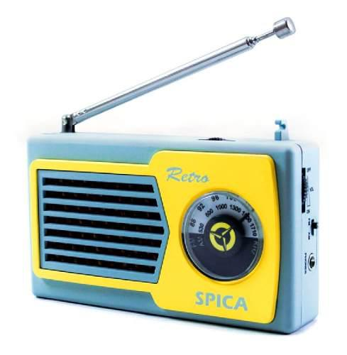 Radio portatil vintage retro spica sp 555 am/fm pilas color
