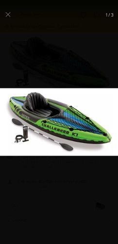 Kayak canoa inter challenger k1 inflable con remos e inflado