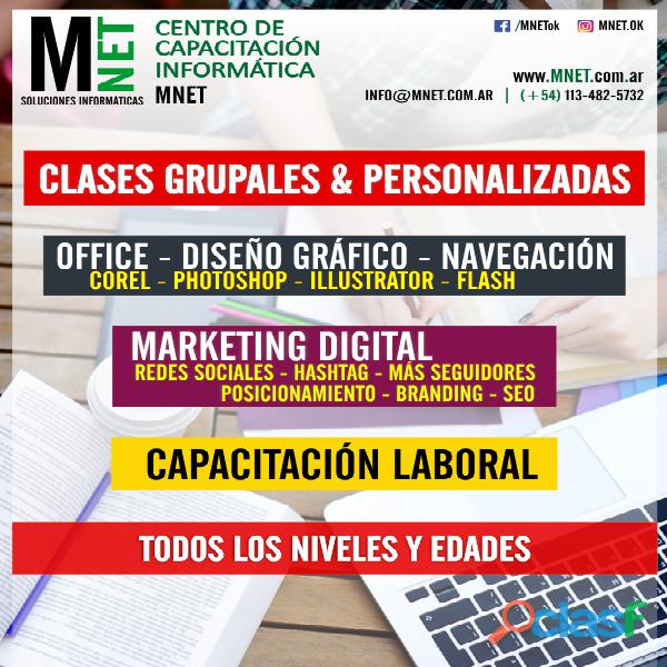 Curso informática redes sociales marketing digital e commerce